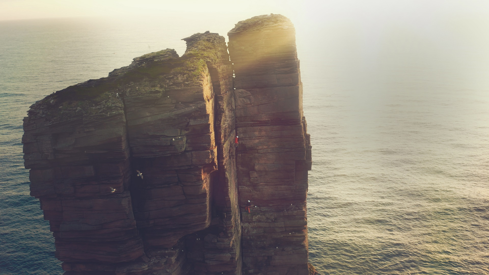 Climbing Blind - Old Man of Hoy