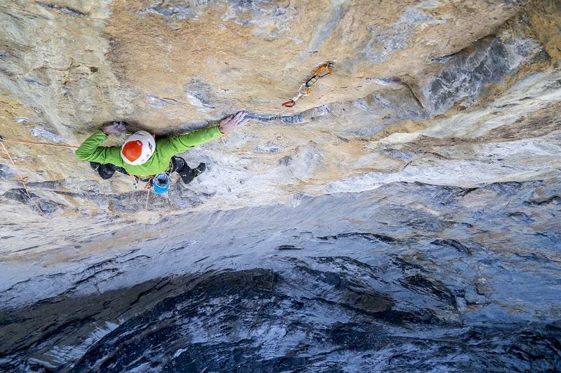 """Cédric Lachat et Tobias Suter sur l'ascension de """"Odyssee"""" à l'Eiger - Juillet 2019 © Guillaume Broust"""